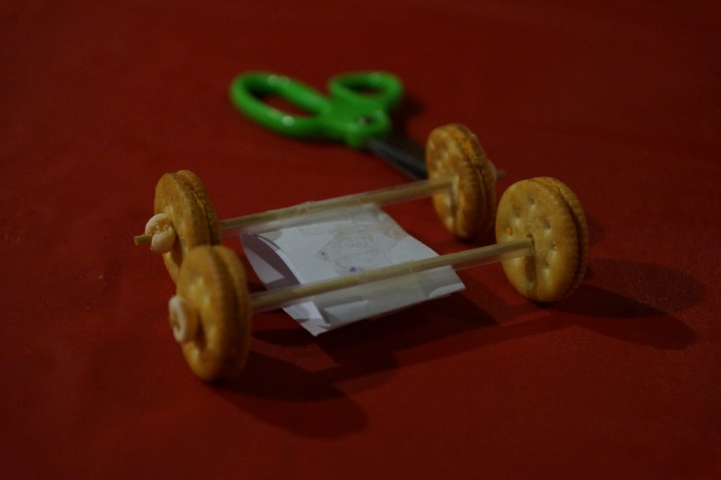 Racing car made with ritz crackers