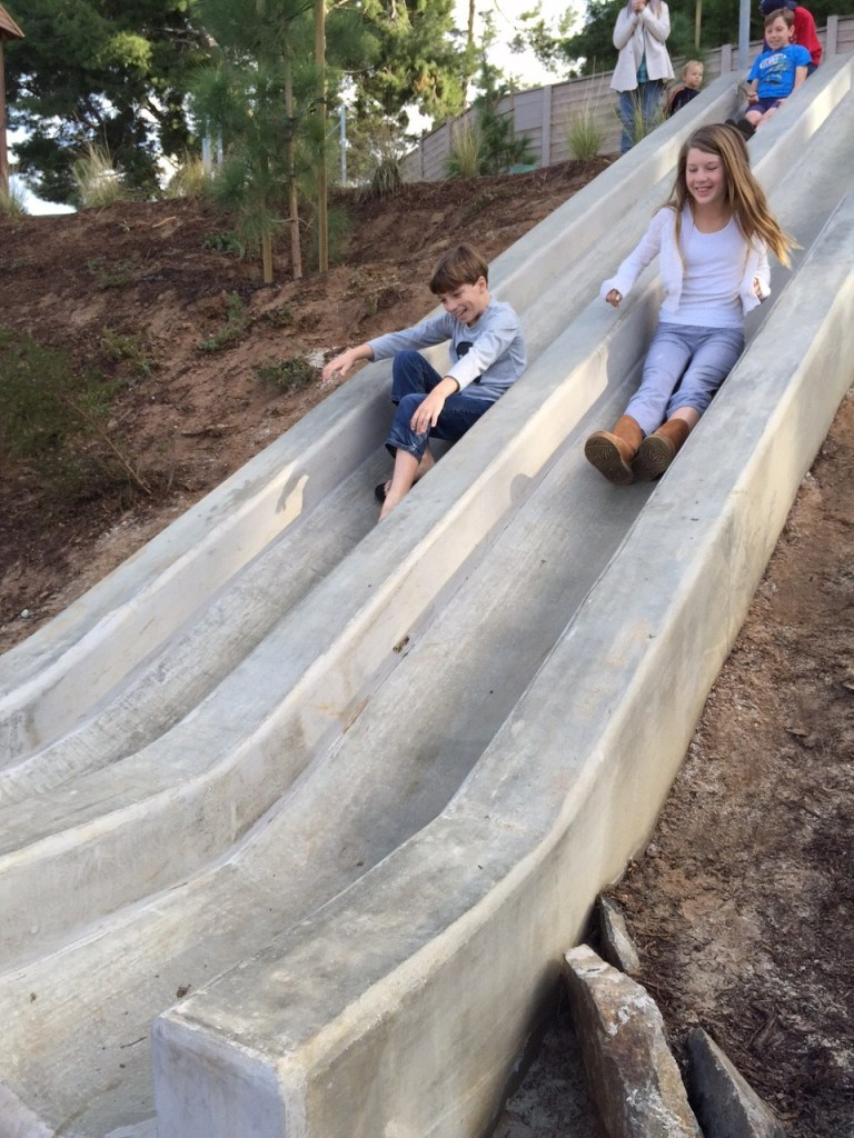 Hill Slides at Orange County Park