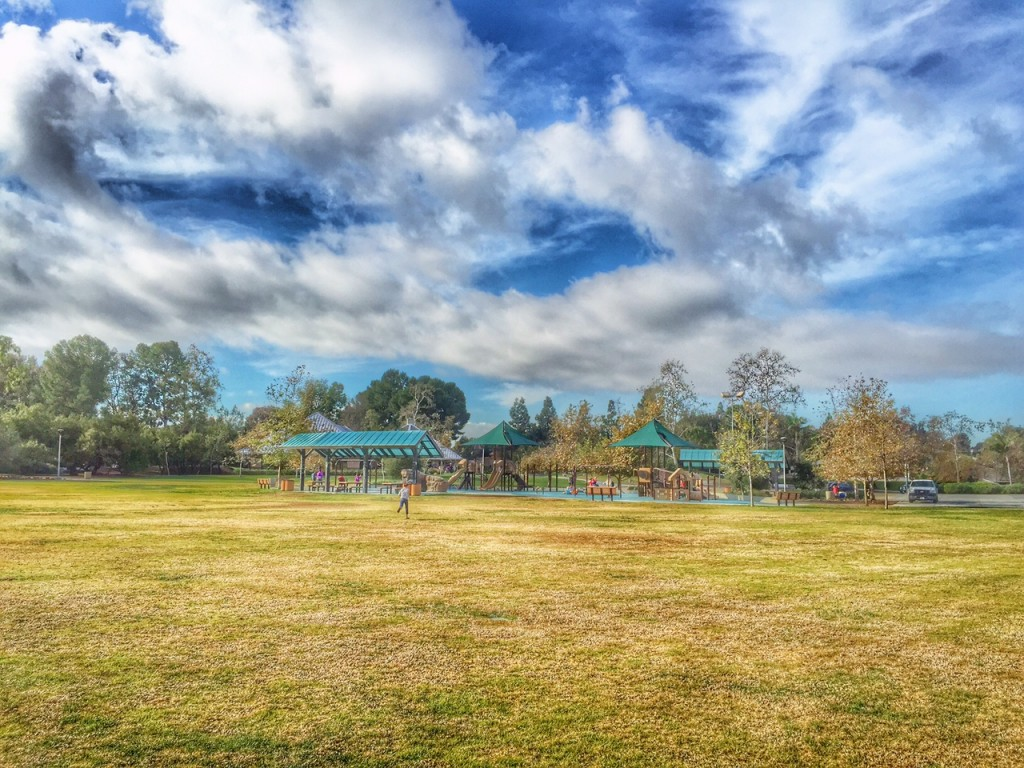 Kids Running to Play at an Irvine Park