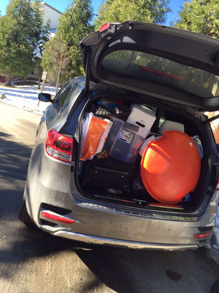Packing the Sorento for a Road Trip
