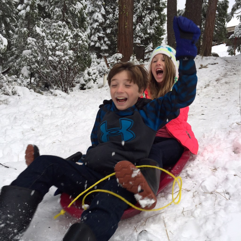 Sledding in Yosemite