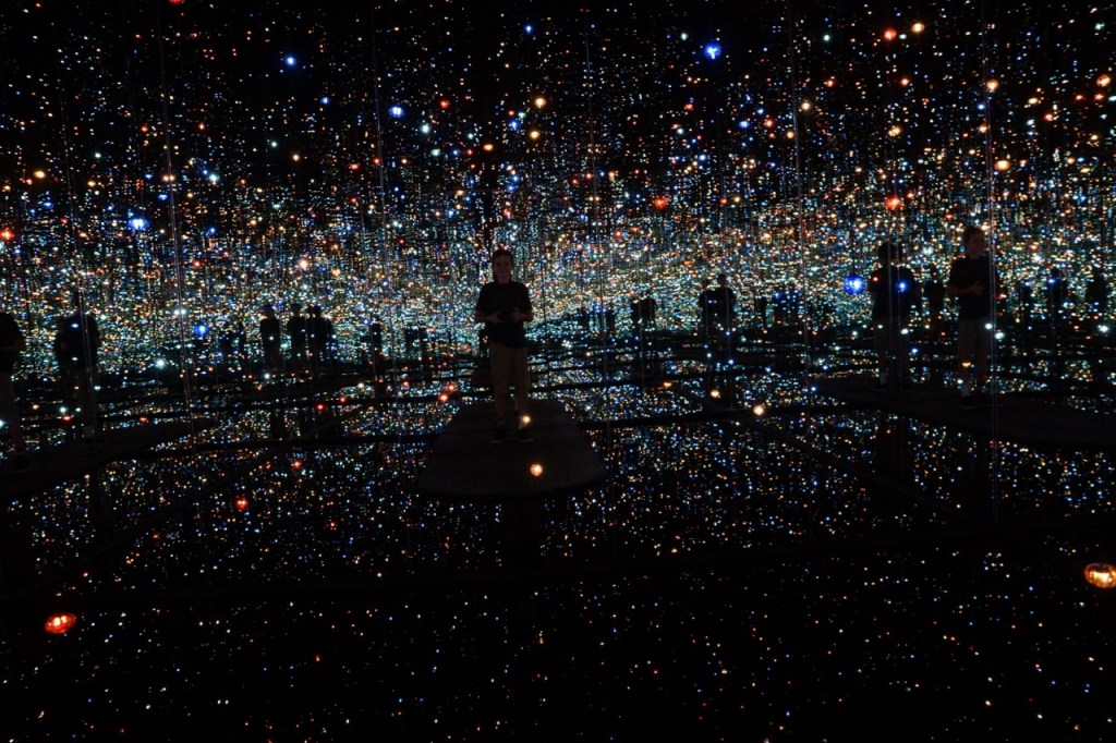 Andrew in the infinity Room