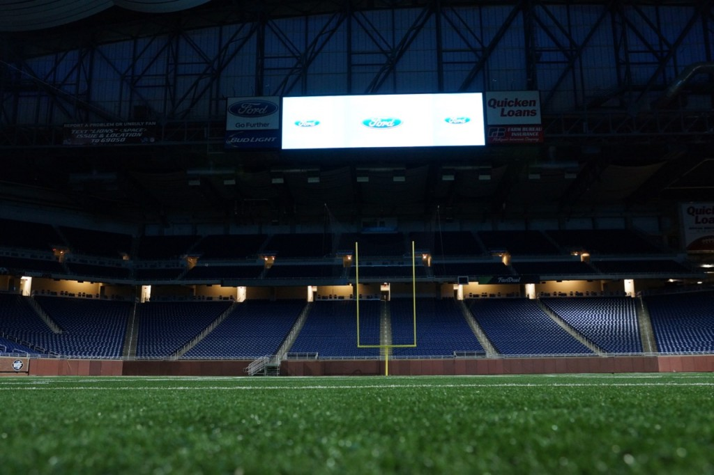 End goal at Ford Field