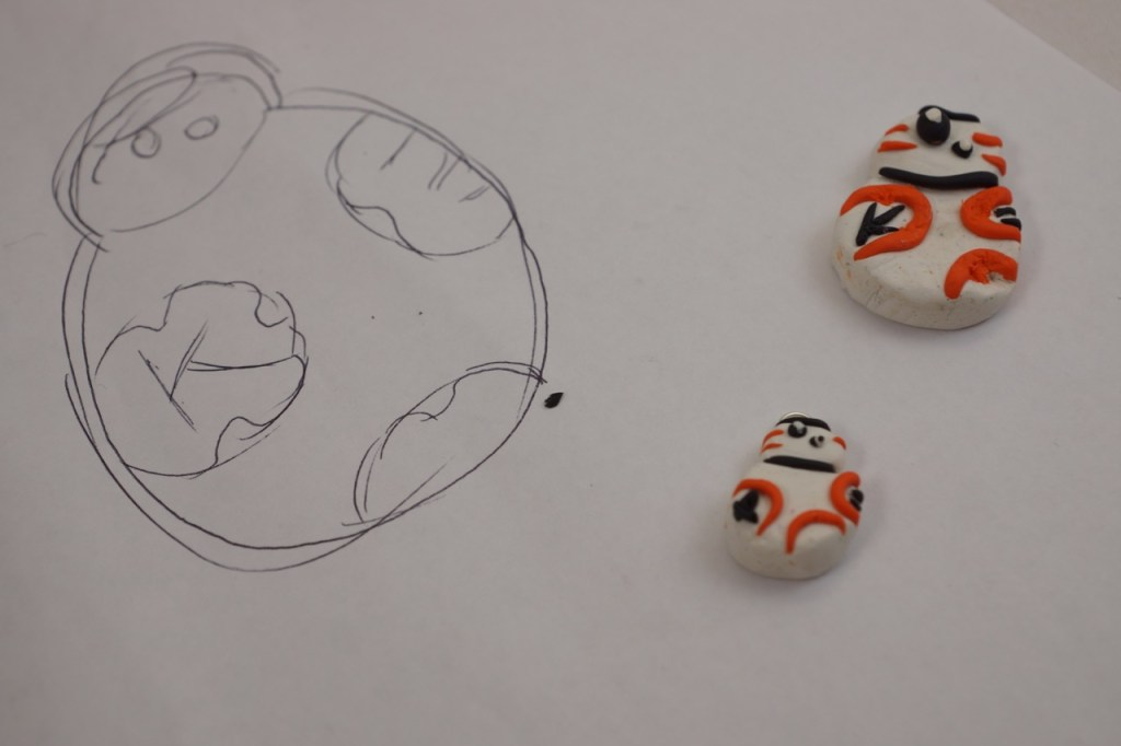 How to make a BB-8 Clay Charm