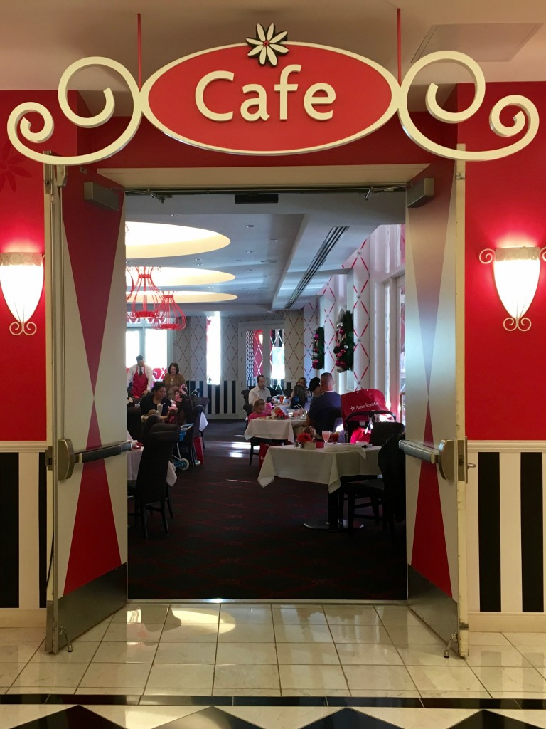 Entrance to the American Girl Doll Cafe