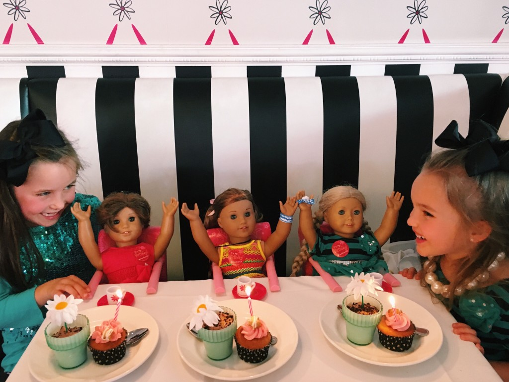 Dining at the American Girl Cafe in Los Angeles