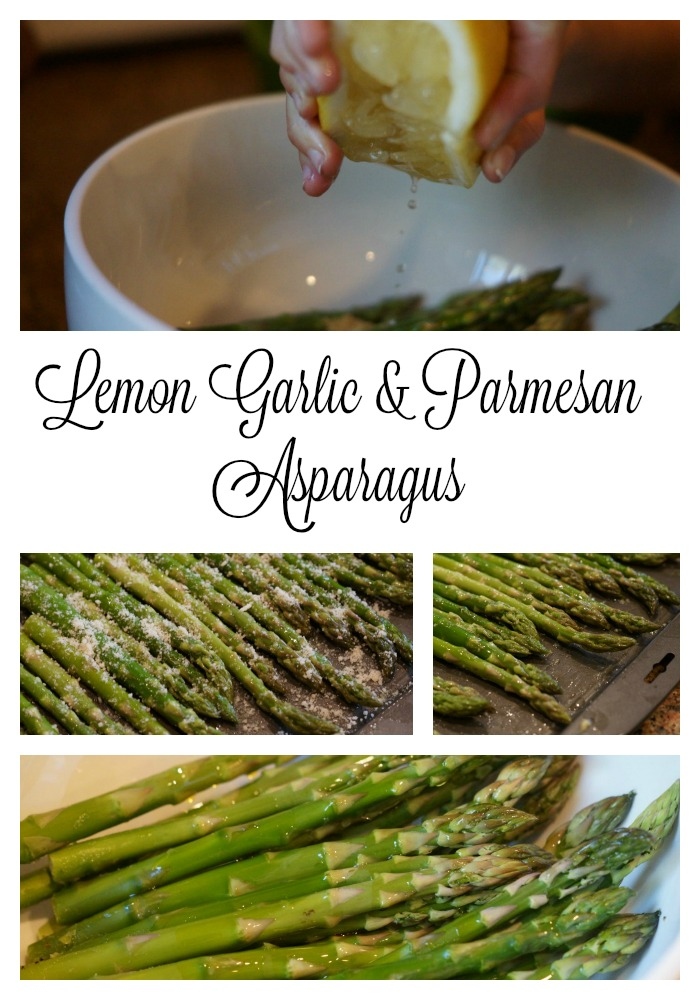 Lemon Garlic and Parmesan Asparagus