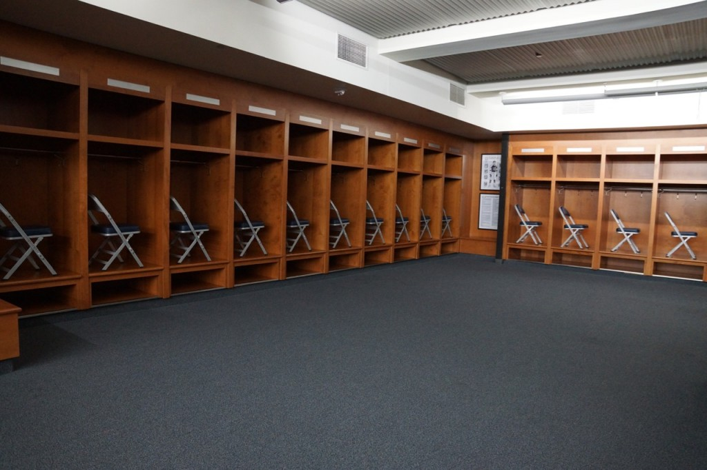 The locker rooms at Detroit Field