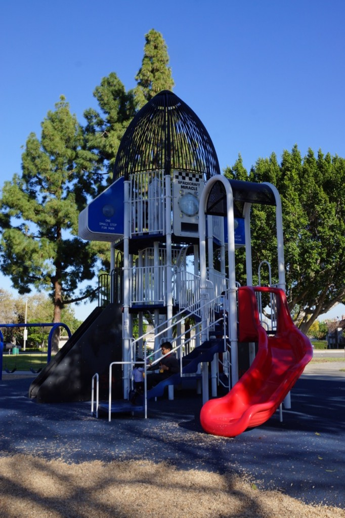 Rocket themed play structure