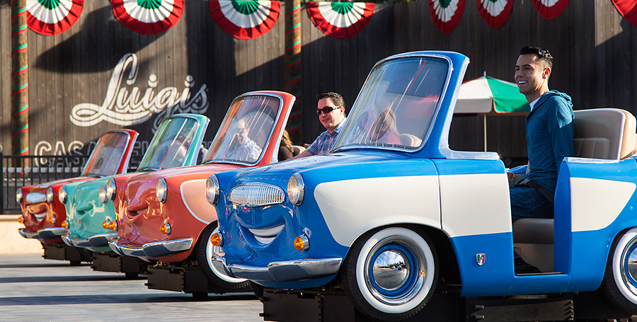 Luigi's Rollickin' Roadsters guests riding