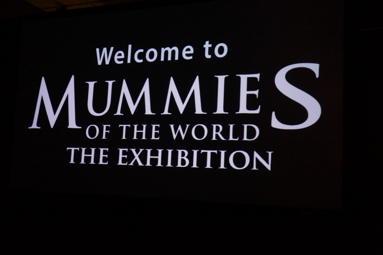 entrance to mummies exhibit at bowers