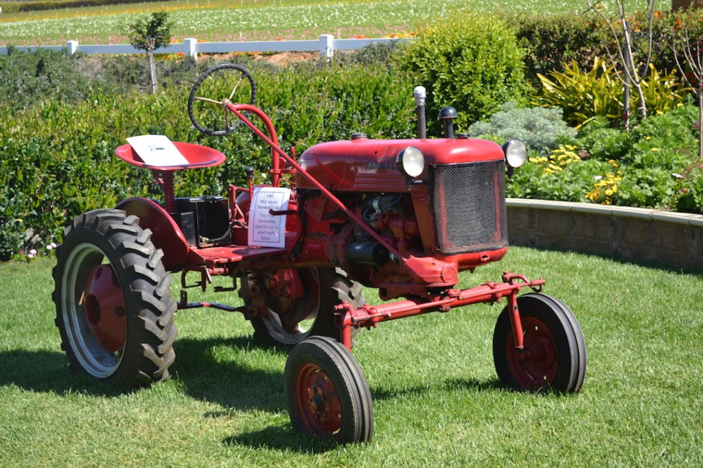 old fashioned tractor