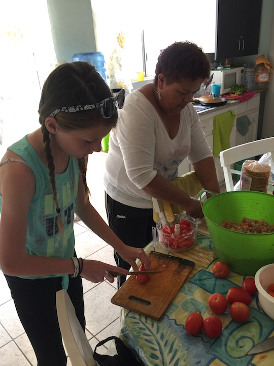 Learning how to make ceviche in Mexico