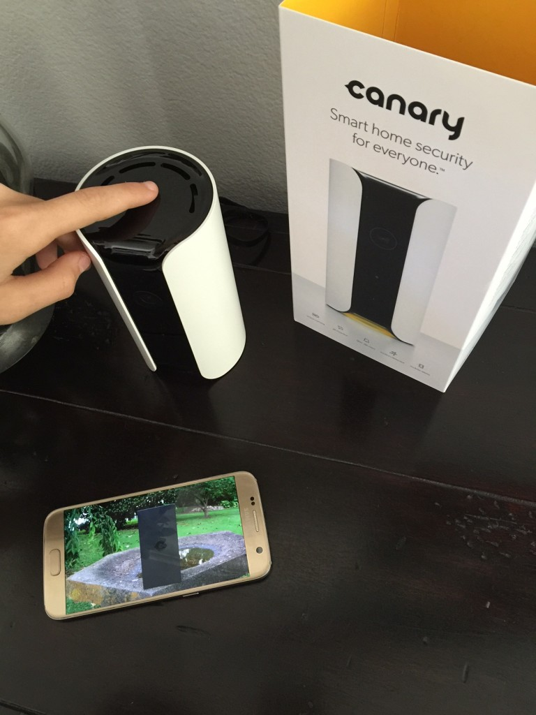 Kids setting up the Canary Home Security