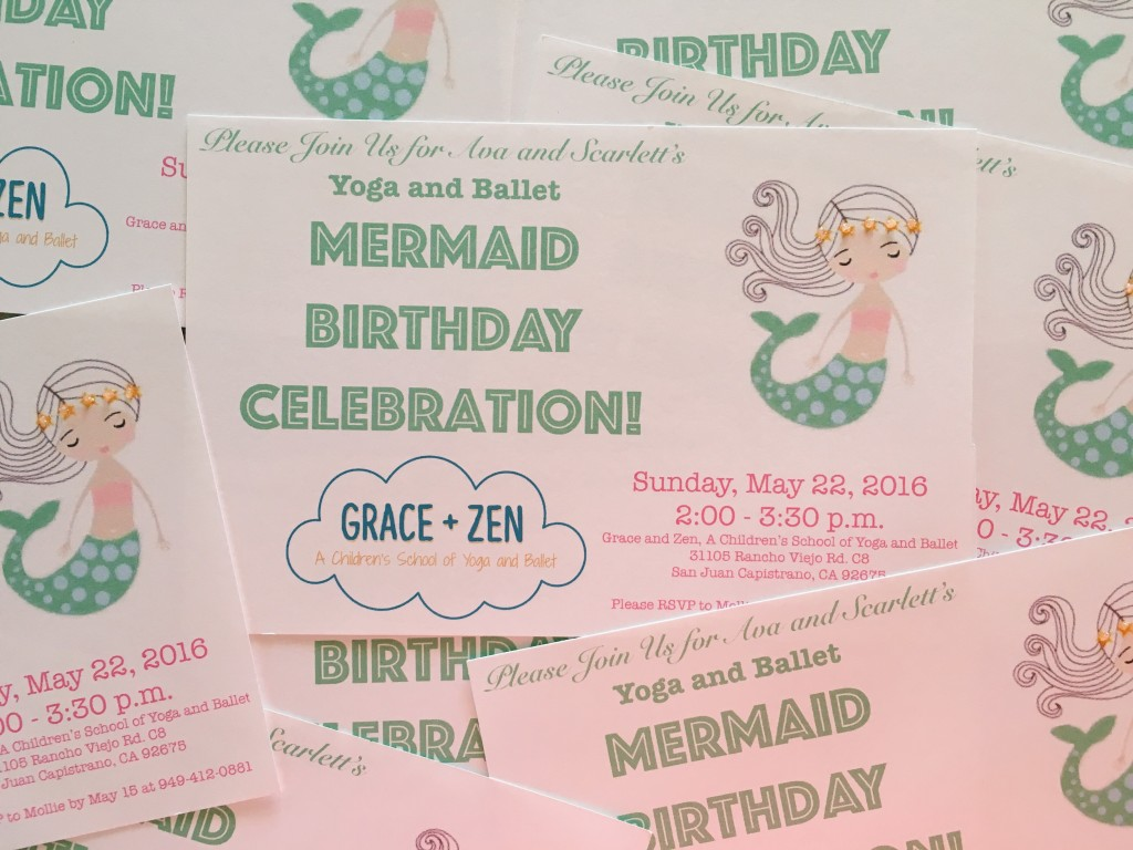 Mermaid Birthday Invitations at Grace + Zen