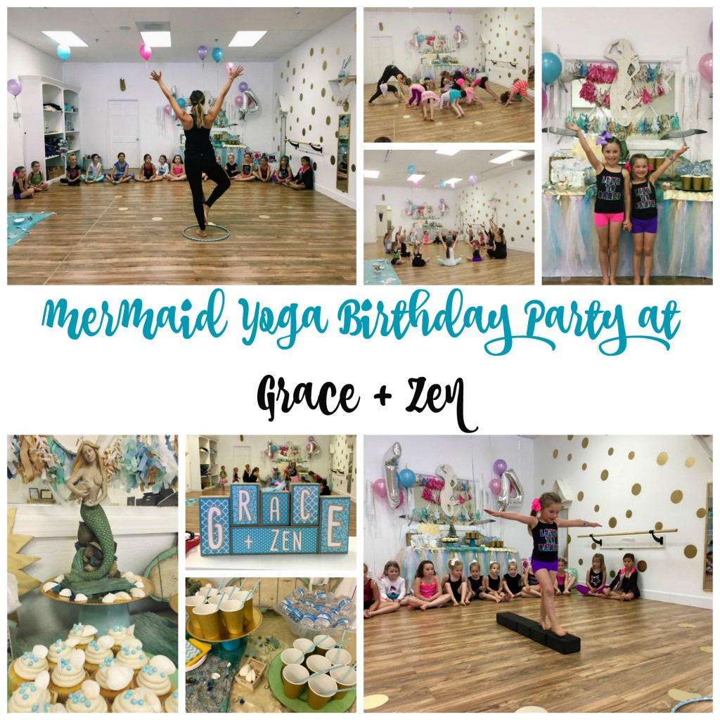 Mermaid Yoga Birthday Party at Grace + Zen