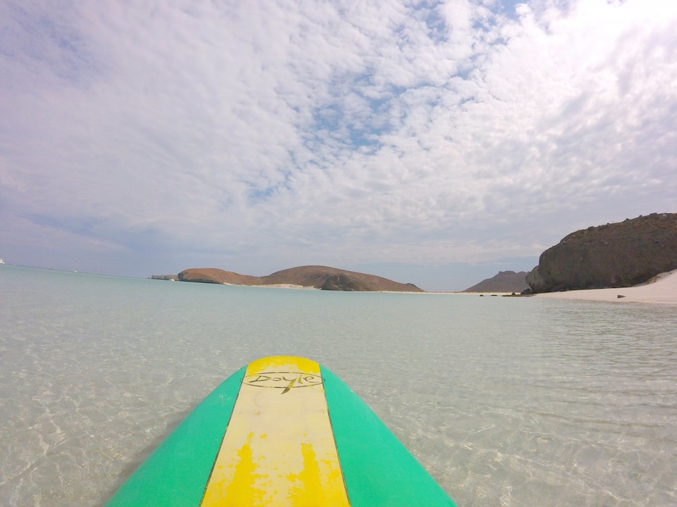 Paddle Boarding at Balandra Beach