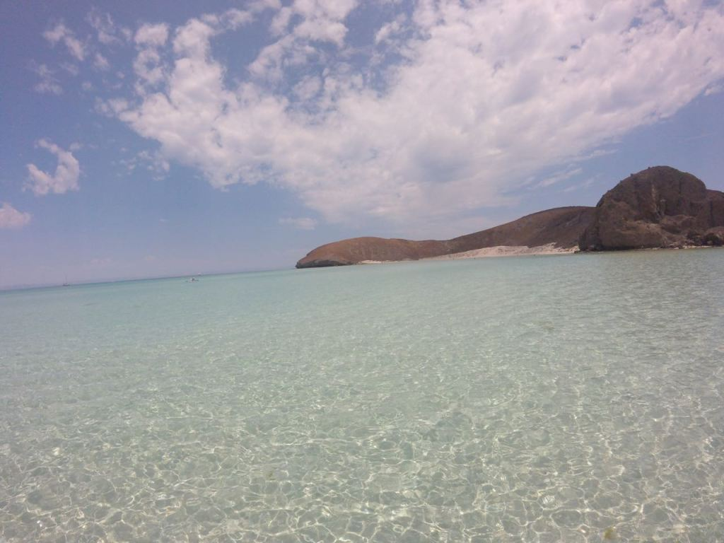 Shimmering water in La Paz