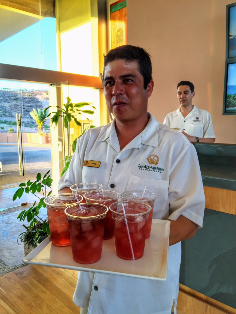 Welcome drinks at Costa Baja Resort & Spa