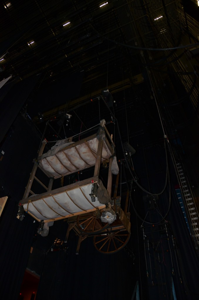 stage set-up for newsies