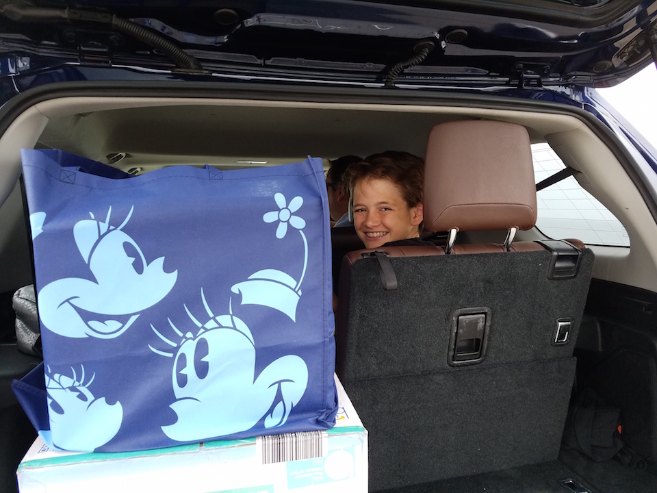 4Runner with kids