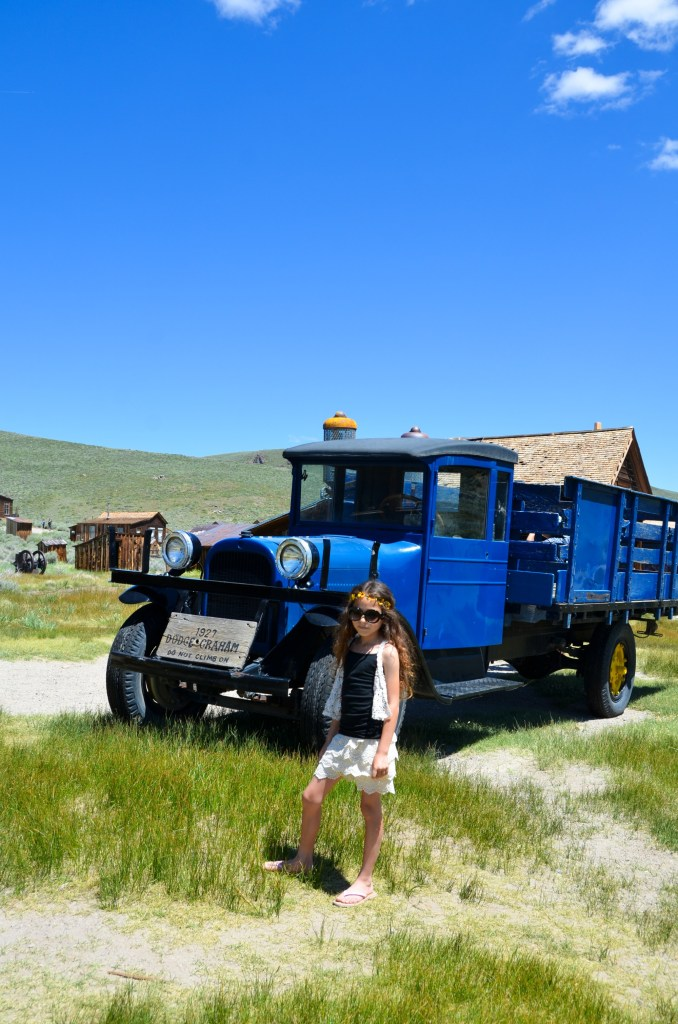 An old mining truck in Bodie