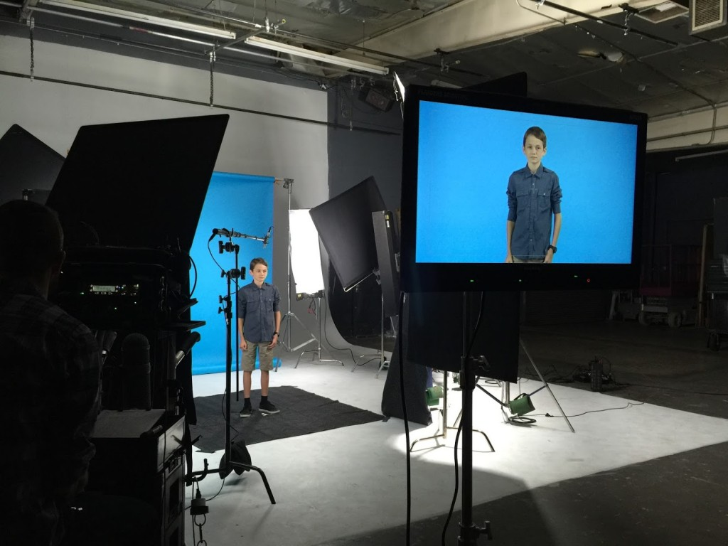 Andrew Barone filming for Invisalign