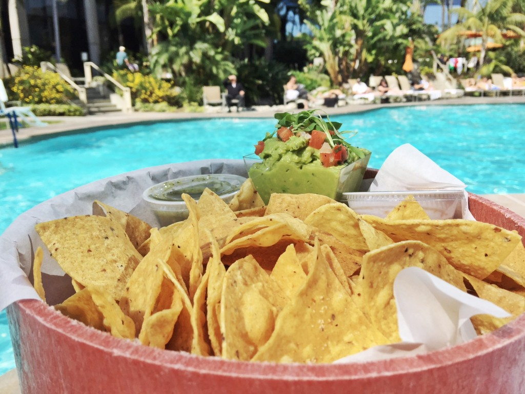 Chips at the Marriott Marquis San Diego Marina pool