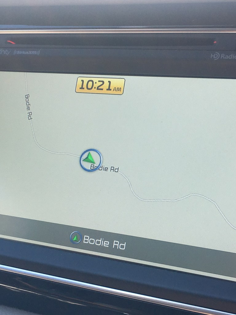 Finding Bodie on the GPS