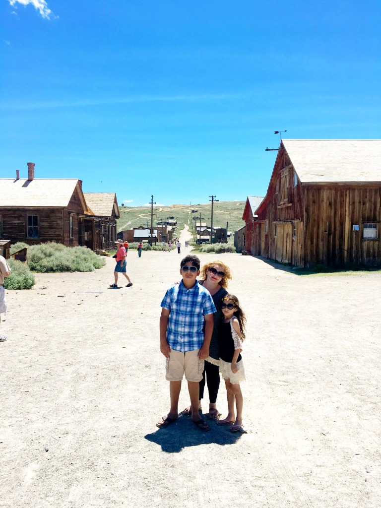 Naz and her family in Bodie