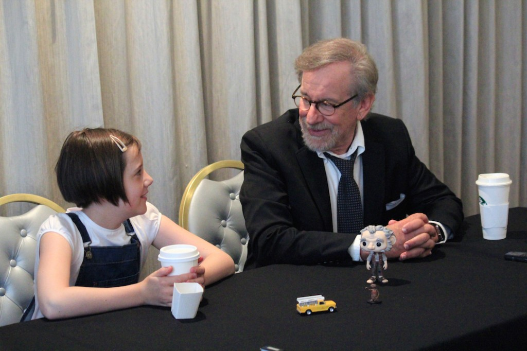 Steven Spielberg and Ruby Barnhill