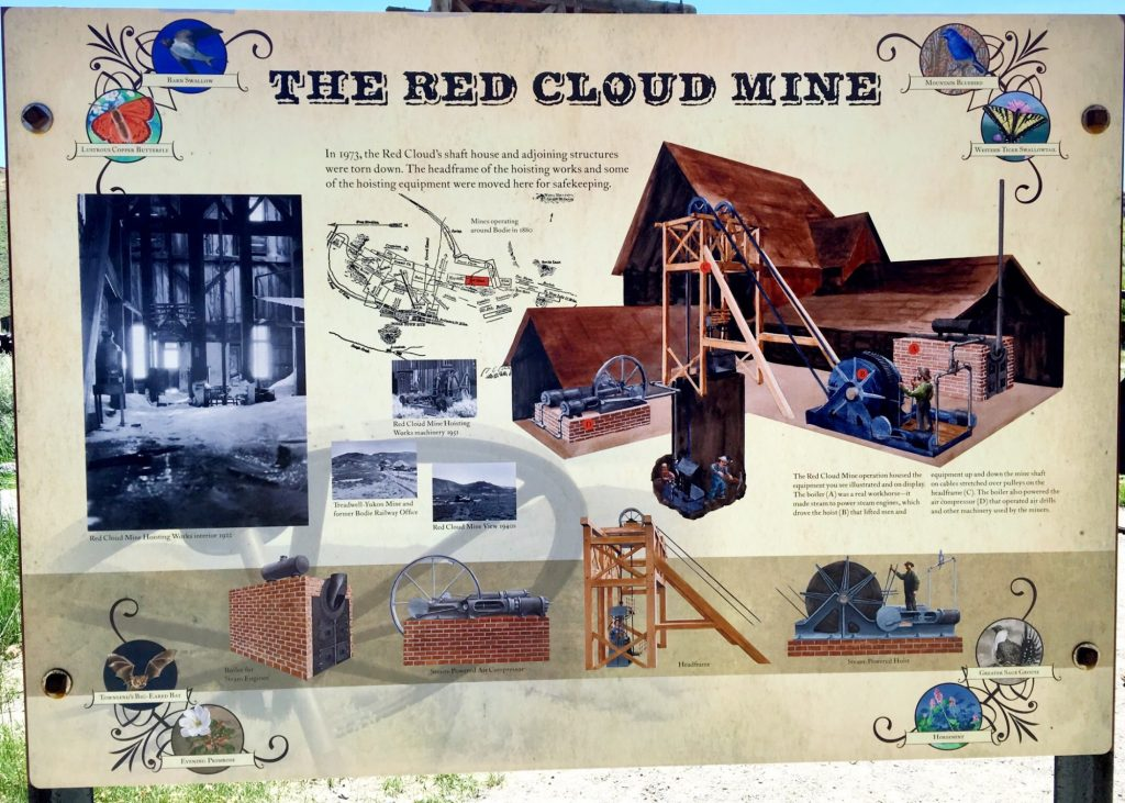 The red cloud mine in Bodie