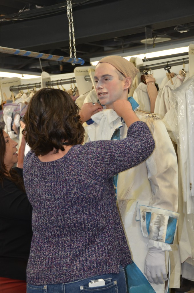 dressing actor for Pageant of the Masters