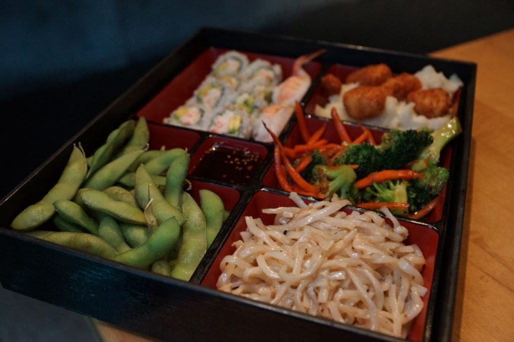 Bento box at Cafe Japengo