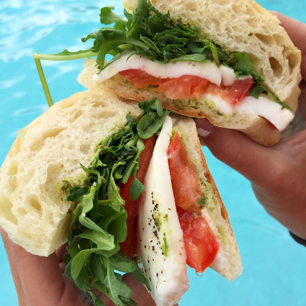 Caprese sandwich at Hyatt La Jolla