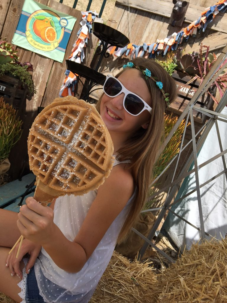 Chicken and Waffles at OC Fair