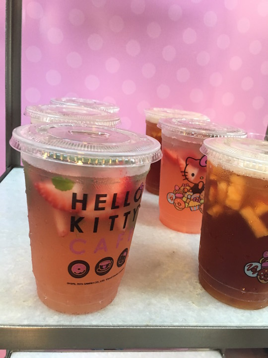 Different Hello Kitty Cafe drinks