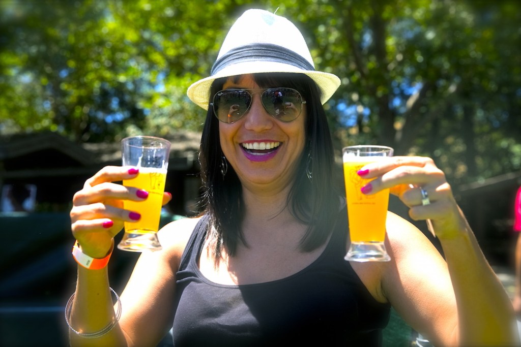 Drinking beer at the CA Beer Festival