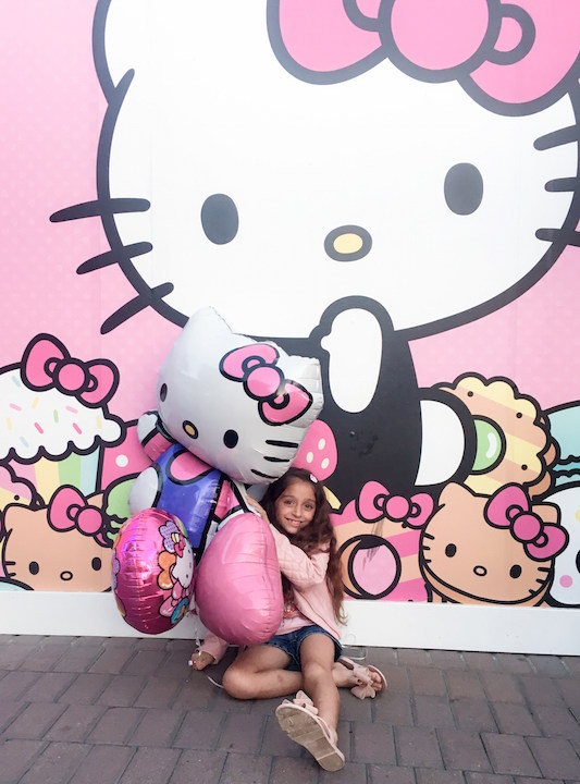 Excitement of the Hello Kitty Cafe opening
