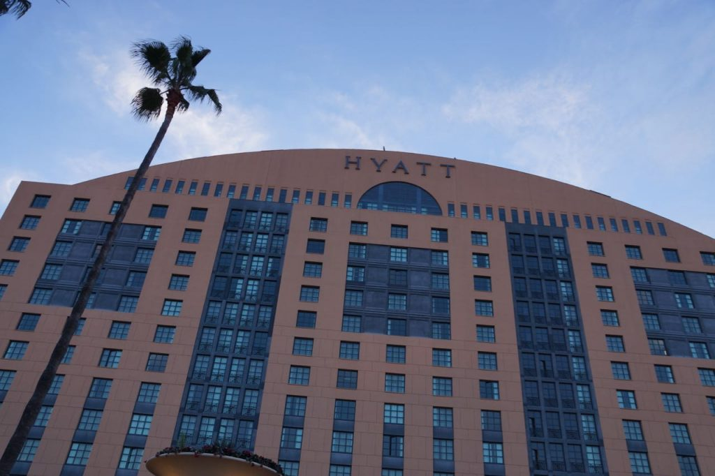 Front of Hyatt La Jolla