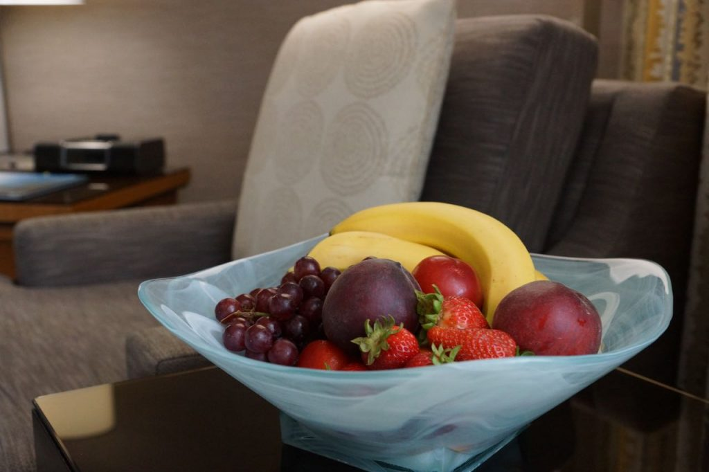 Fruit basket at Hyatt La Jolla