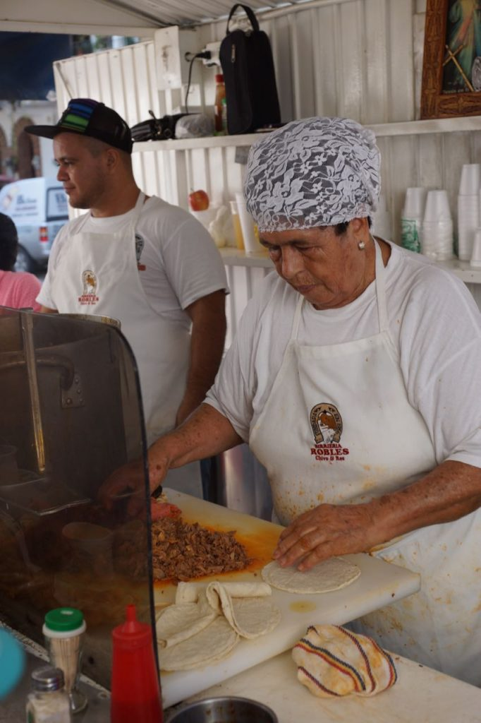 Grandma at Tacos Robles