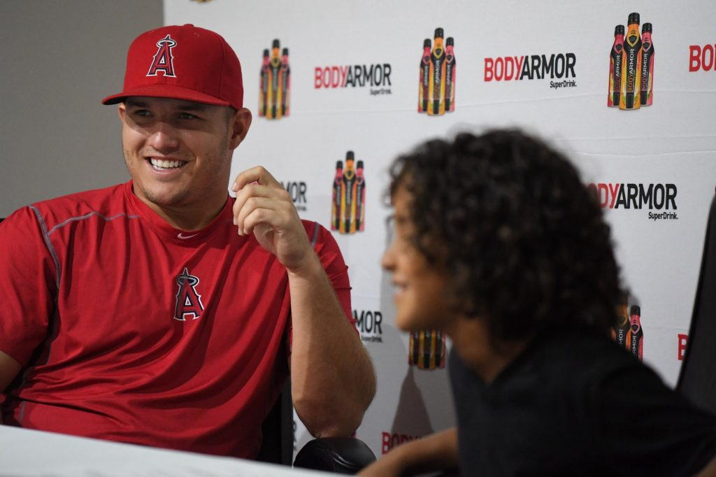 Having fun with Mike Trout