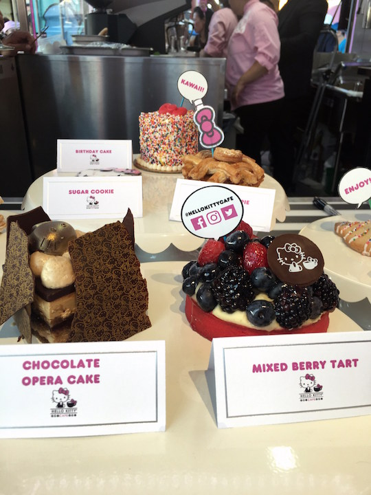 Hello Kitty Cafe desserts