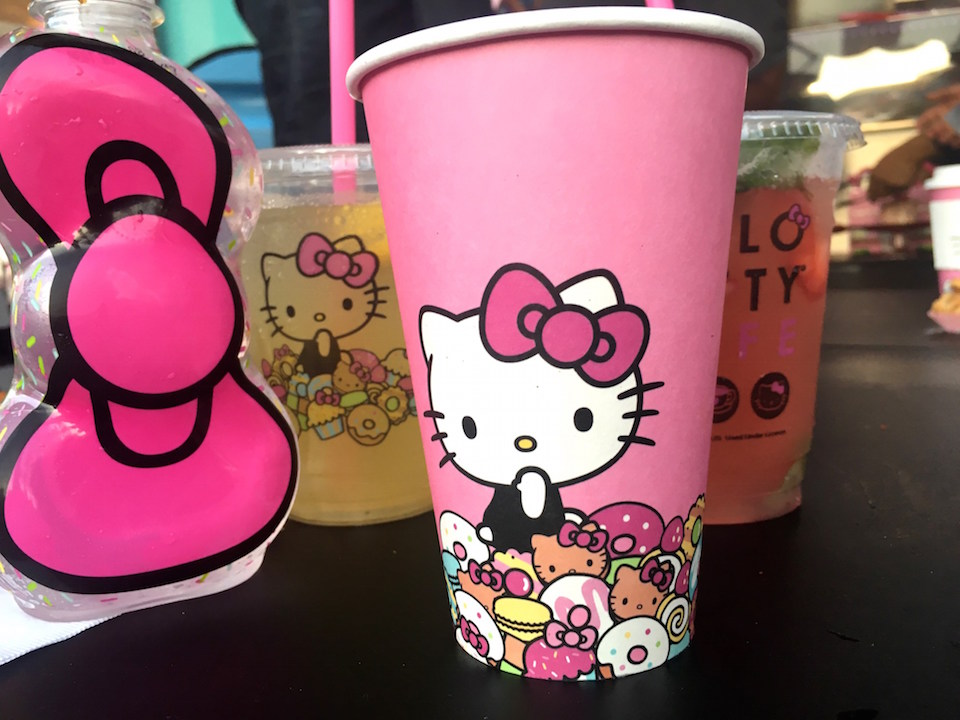 Sweet treats at the Hello Kitty Cafe
