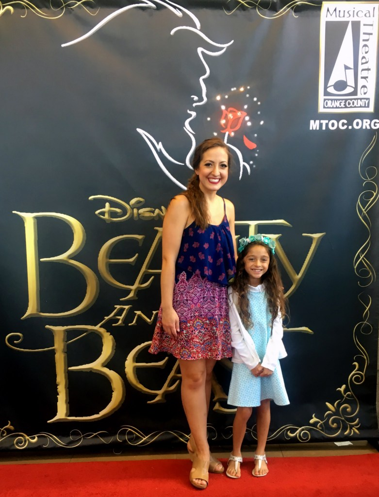 With the cast of Beauty and the Beast