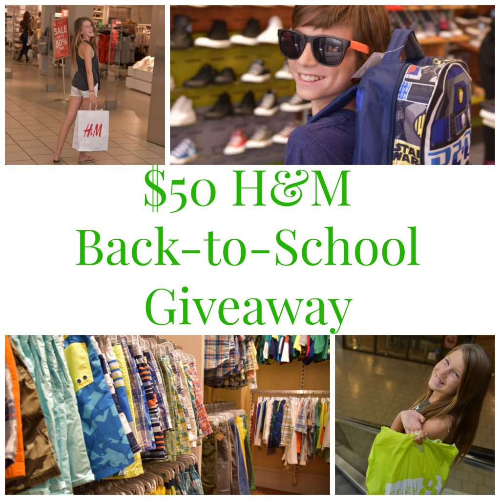 $50 H&M Back-to-School Giveaway