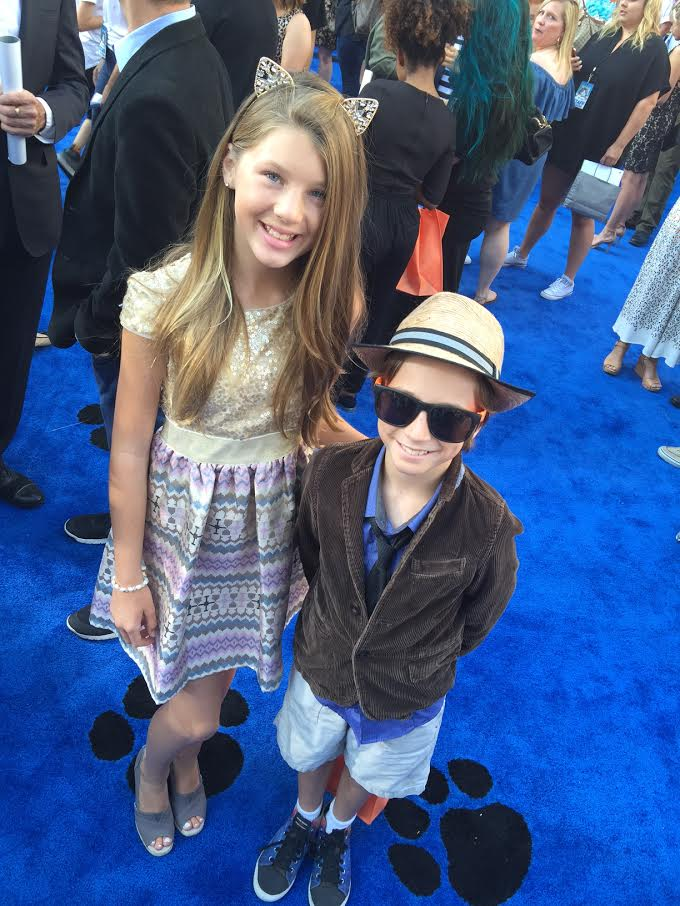Ella and Tyler at the Nine Lives Premiere