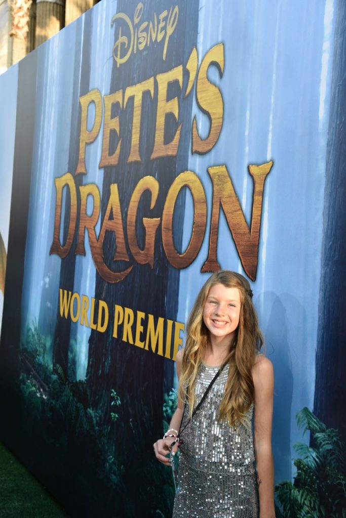 Ella at the Pete's Dragon Premiere