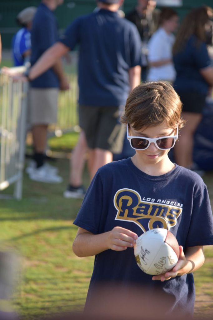 First Rams Autographed Ball